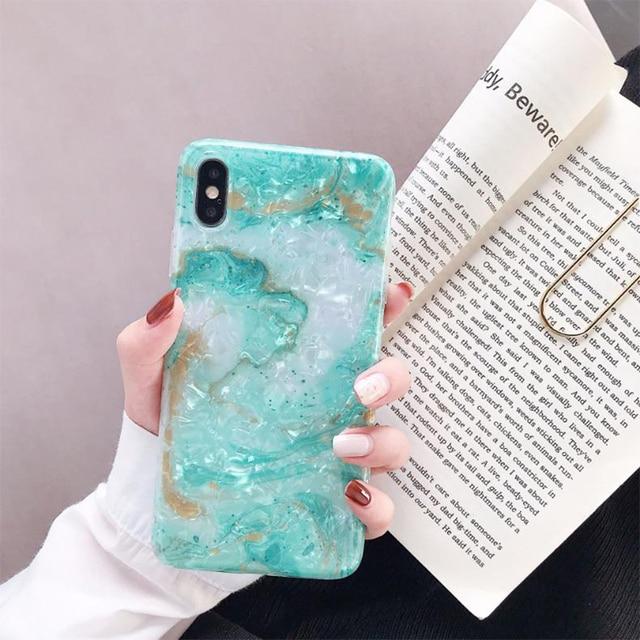 Noble Blink Light Blue Phone Case for iPhone XS Fitted Silicone Case for iPhone XS Gift for Women Girls 5