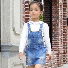 IENENS – robe d'été pour bébés filles, salopette à bretelles, en Denim, pour enfants de 3 à 6 ans
