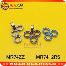 NBZH MR74ZZ MR74-2RS SMR74ZZ SMR74-2RS 4X7X2,5 мм Глубокие шаровые подшипники MR74/L-740 ZZ MR74 RS MR74-2RS