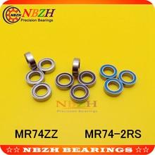 Miniature Deep Groove Ball Bearing 674ZZ 4x7x2.5mm Bearing Steel Double Shielded