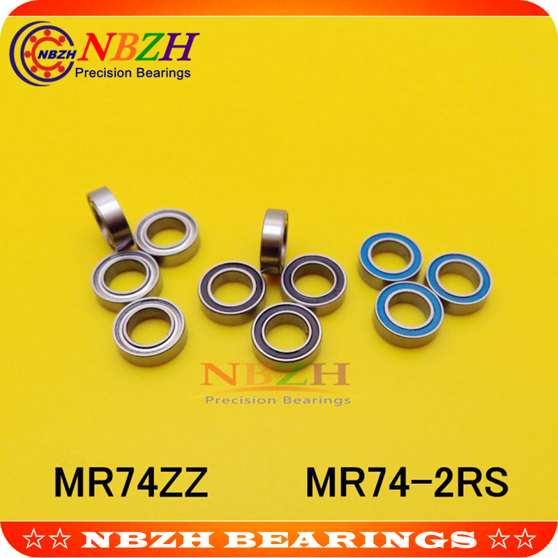 Roulements à billes à gorge profonde 4x7x2.5mm   MR74 674ZZ 674RS MR74ZZ MR74-2RS SMR74ZZ SMR74-2RS 674Z ZZ RS RZ 2RZ, haute qualité
