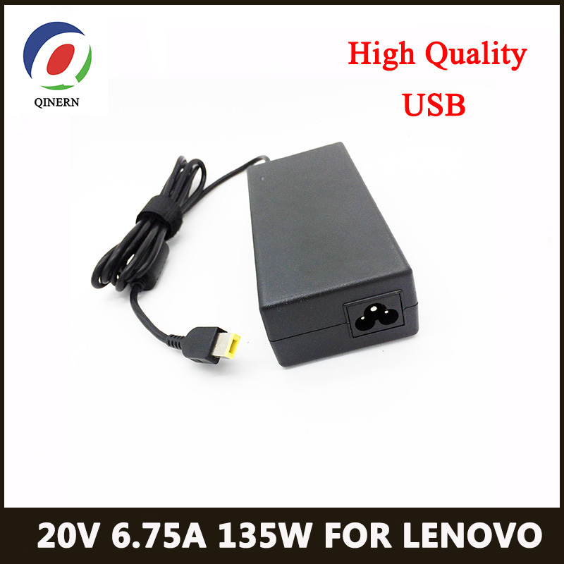 20V 6.75A 135W USB <font><b>Laptop</b></font> Charger AC Adapter For <font><b>Lenovo</b></font> YOGA720-15 T540p T440p Y50-70 G5005 Y520 Y7000 <font><b>Y700</b></font>-14 W550 Charger image