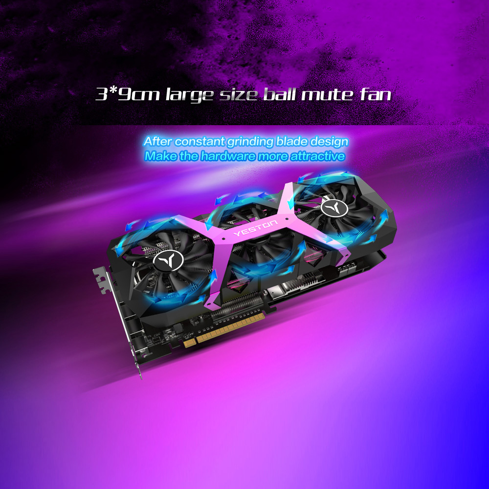 Image 4 - Yeston Radeon RX580 8GB GDDR5 256bit PCI Express x16 3.0 video gaming graphics card external graphics card for desktopGraphics Cards   -