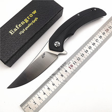 Eafengrow EF965 D2 Blade G10 Handle Flipper Open System Hunting/Utility/Outdoor/Camping/EDC/Pocket/Folding Knife