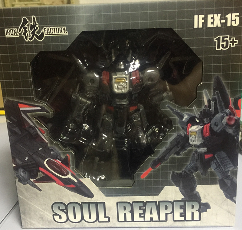 New Iron Factory Transformers IF EX-15 Soul Reaper Black Shadow Figure In Stock
