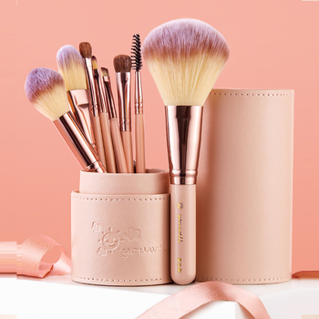 Makeup Brush Tool Set Cosmetic Powder Eye Shadow Foundation Blush Blending Beauty Make Up Brush with Makeup Brush Holders professional eye shadow brush wood handle 230 large flat tapered shader brush eye detail make up brush cosmetic tool
