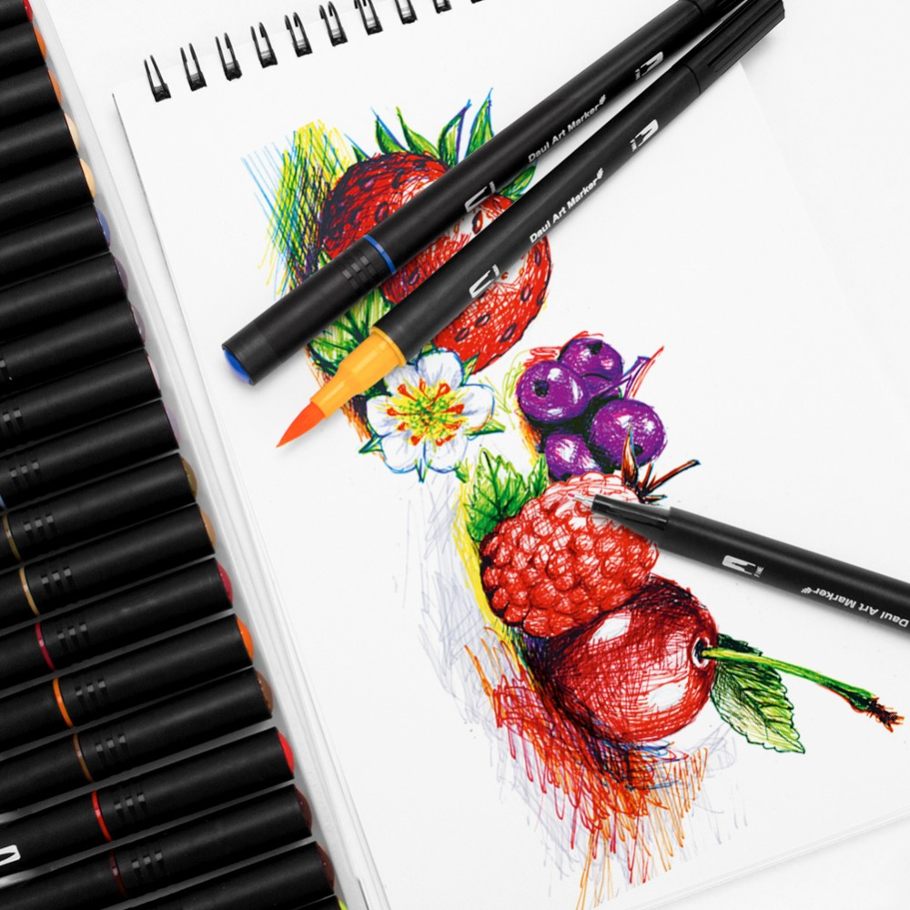 arte, conjunto de pintura, conjunto de caneta