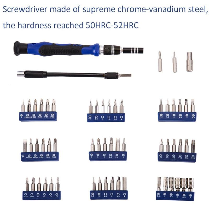 Купить с кэшбэком 75 in 1 with 57 Bit Magnetic Driver Kit Precision Screwdriver set Hand Tools for Phone Electronics Repair Tool Kit