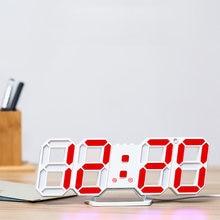 3d световой Пластик светодиодный цифровые настенные часы настольные