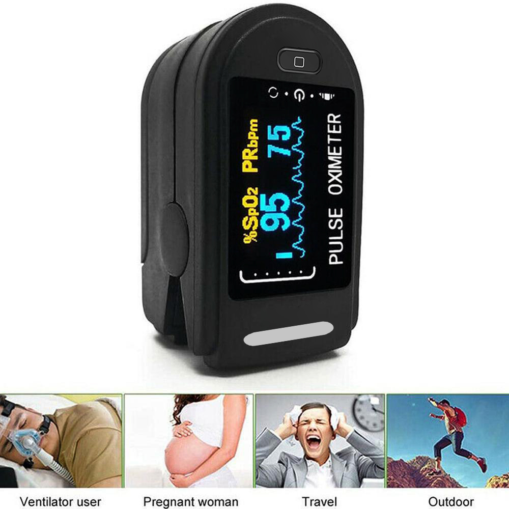 Medical Household Digital Fingertip pulse Oximeter Blood Oxygen With Respiratory Rate Oximetro De Pu
