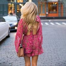 Женские повседневные Комбинезоны, пляжные комбинезоны в богемном стиле с цветочным принтом, лето 2019Комбинезоны c шортами    АлиЭкспресс