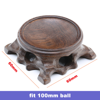 Wood Display Stand for Crystal Glass Lens Ball Large Divination Photography Lensball Base 40 60 80 100mm Big Magic Sphere Holder 10