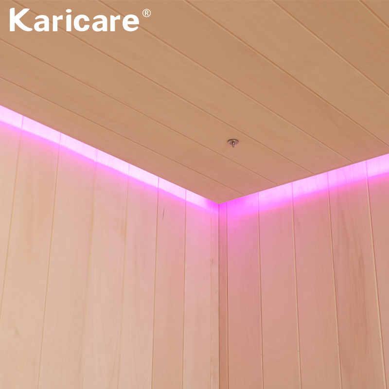 Cao cấp sang trọng Ướt-Hấp Hơi và chống hấp gỗ chắc chắn phòng xông hơi kết hợp xông hơi bếp và MP3