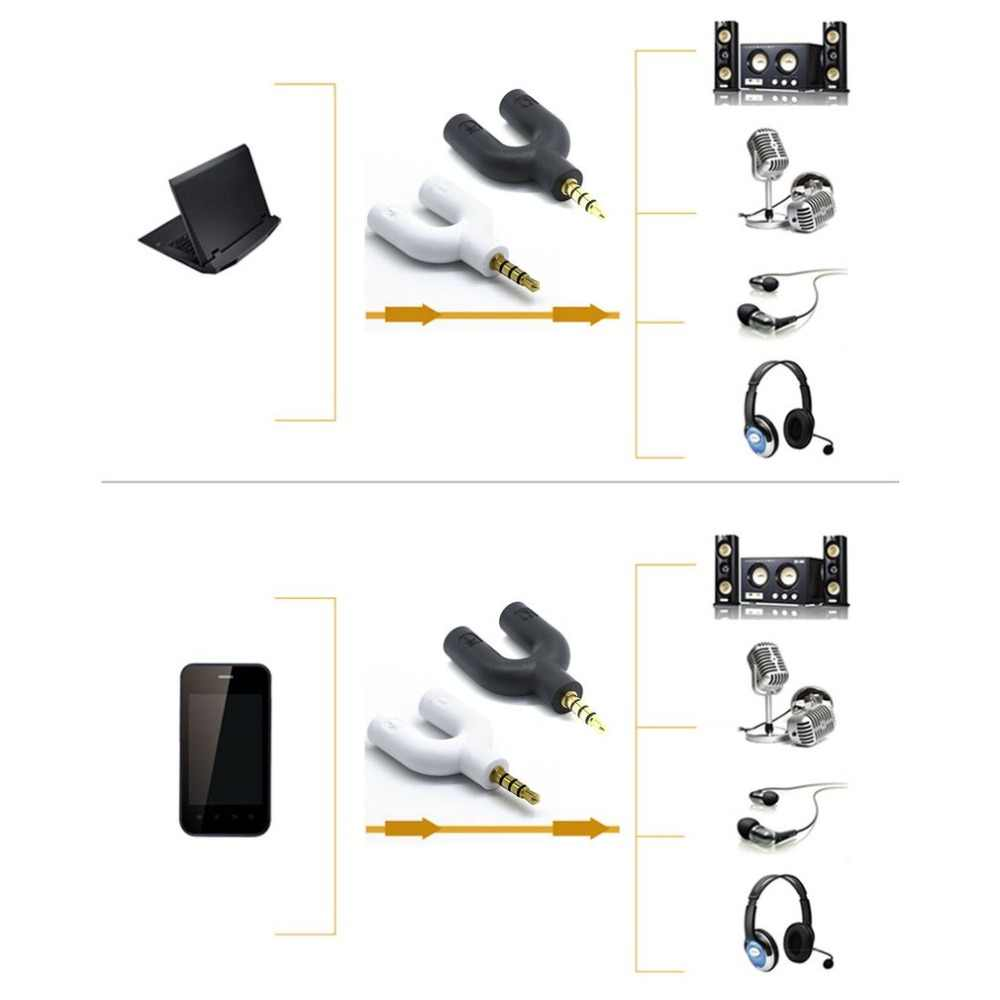 Hoofdtelefoon Microfoon Splitter 3.5mm Audio Splitter U Jack naar Hoofdtelefoon Microfoon 2 Way U Splitter Converter Adapter