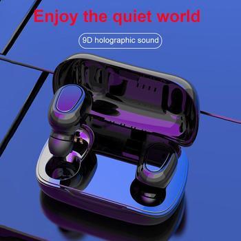цена на L21Portable TWS Bluetooth 5.0 Waterproof Sports Wireless Earphones Noise Reduction Stereo Music In-Ear Earbuds Earpiece