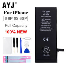 AYJ Original Battery For iPhone 6 6G 6S Plus Battery Replacement Real High Capacity Mobile Phone Bateria Case Tools Kit 0 cycle(China)