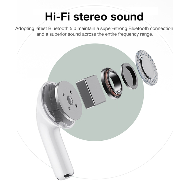 Airpodding Pro 3 Bluetooth Earphone TWS Wireless Headphones HiFi Music Earbuds Sports Gaming Headset For IOS Android Phone 6