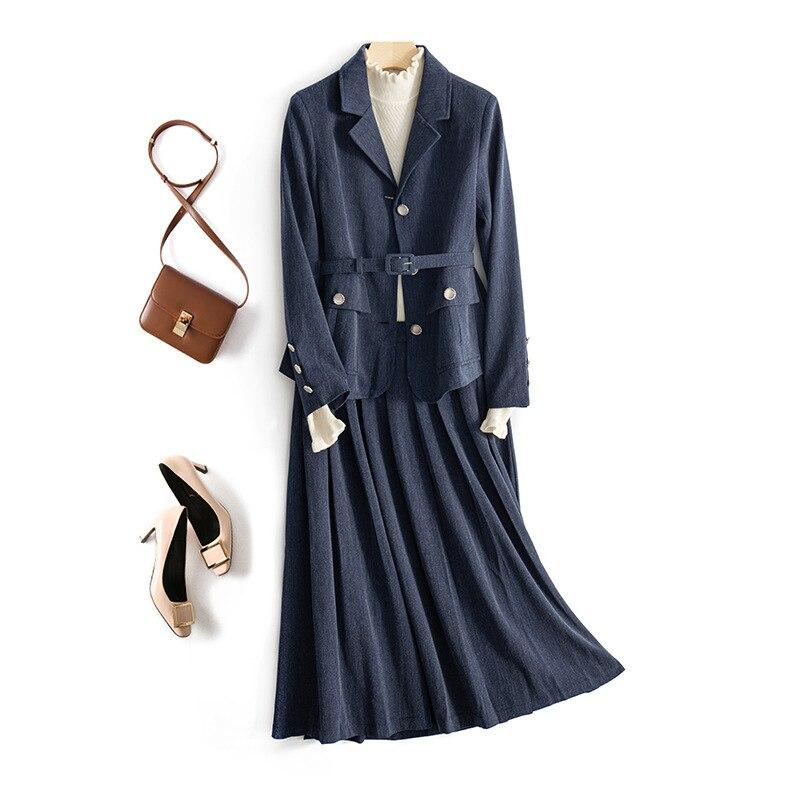 Офисный женский костюм, Униформа, юбка и костюм для женщин, профессиональная одежда, рабочие наряды, комплект из двух предметов, Блейзер, пли