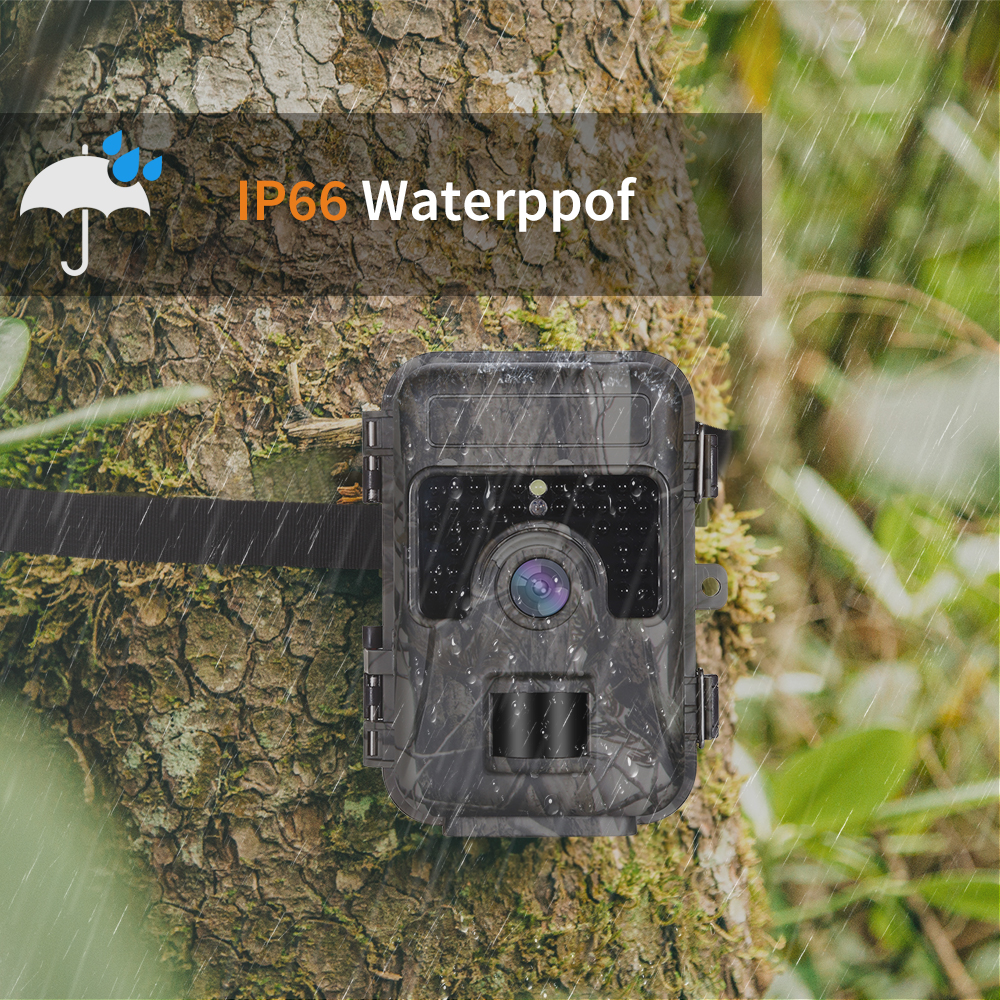 Hunting Trail Camera 1080P 16MP Wildlife Scouting Cam IR Night Vision IP66 20M