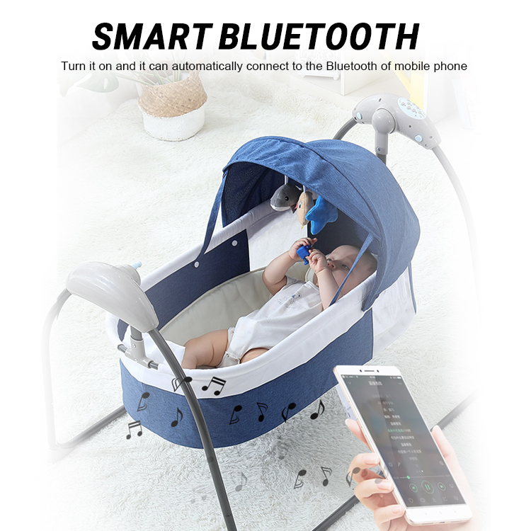H333be6a440ed47f89a68c9e5732543a6Y Bluetooth Control Swing Baby Rocking Chair Electric Baby Cradle Remote Control Cradle Rocking Chair For Newborns Swing Chair