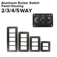 2/3/4/5 Way Car Rocker Switch Panel Housing Holder Aluminum For Carling Boat Type Auto Parts Switches Parts Accessories