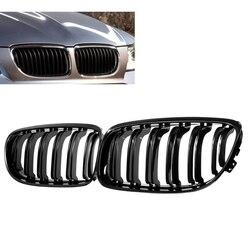1 para samochodów przedni grill błyszczące  czarne wlot maskownica do BMW E90 LCI 3-Series Sedan/Wagon 2009-2011