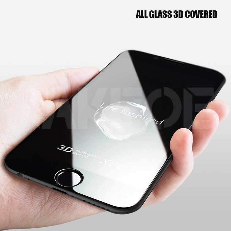 999D Pelindung Anti Gores untuk iPhone X XS 11 Pro XS Max XR Pelindung Iphone 7 8 6 6S Plus SE 2020 Kaca Film