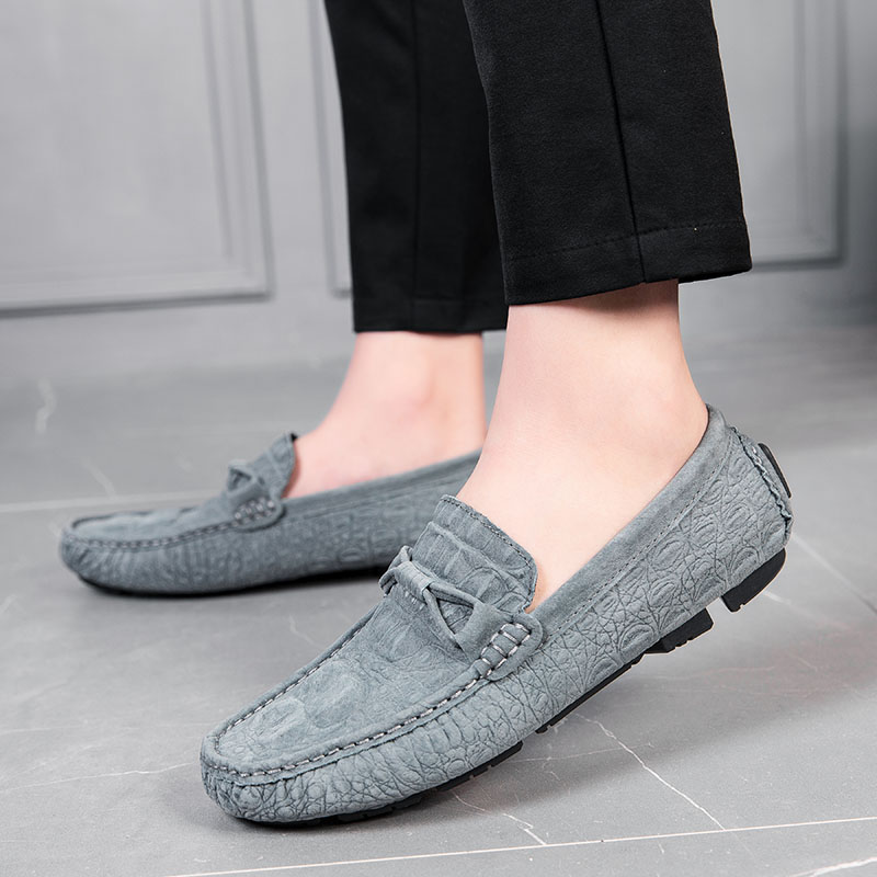 2019 Men Loafers Soft Moccasins Winter Suede Genuine Leather Shoes Outdoor Fashion Men Flats Gommino Slip On Driving Shoes A4 Men S Casual Shoes Aliexpress