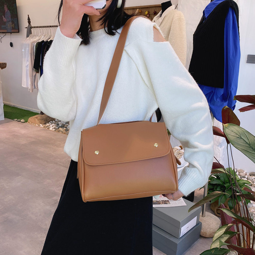 PU Leather Crossbody Bags Solid Satchel Daily Simple Totes Simple Solid Color Summer Totes for Women 2020 Trend