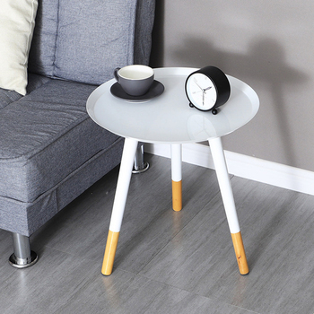 Simple white iron side table creative living room sofa side bedside table hotel home decor small coffee table simple modern sofa side corner several moving bedside table american style solid wood living room small round coffee table