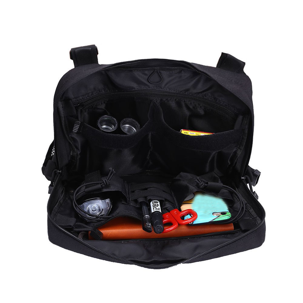 Tactical Chest Bag Hip Hop Street Clothing Bag Molle Front Bag Vest Backpack Breathable Mesh Outdoor Hunting Military Combat Bag