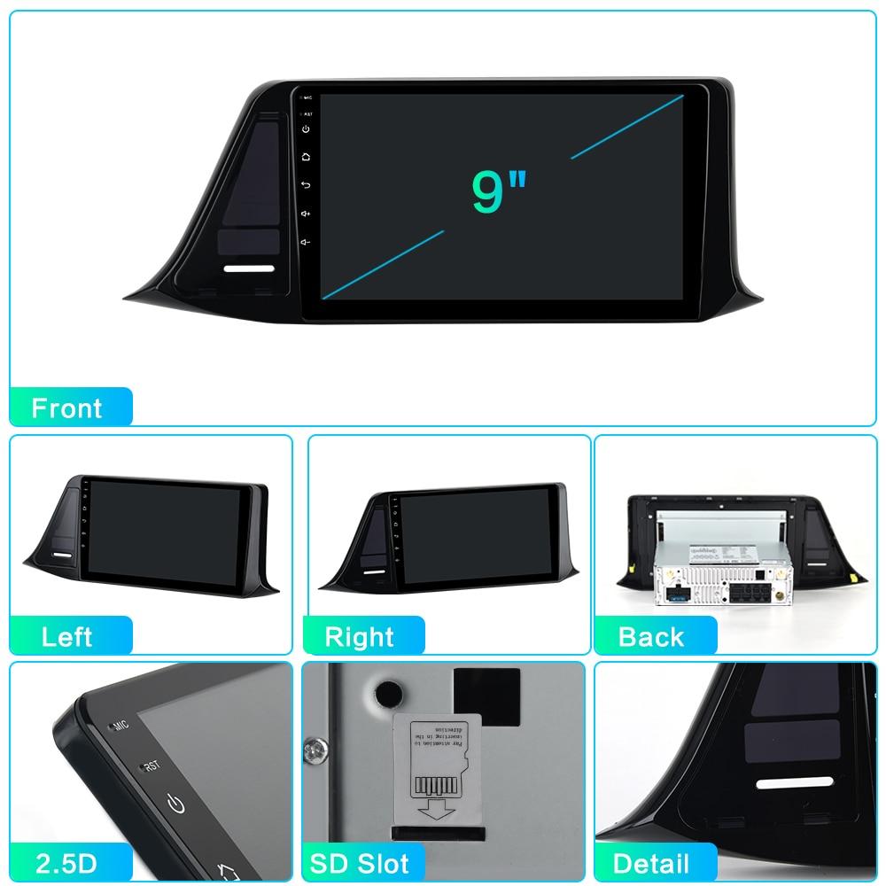 "Best Dasaita 9"" IPS Android 9.0 Car Multimedia Player for Toyota C-HR CHR RHD GPS 2016 2017 2018  Navigation Bluetooth 1080P Video 5"