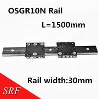 Aluminum roller Linear Motion Rail 30mm width OSGR10N External double axis guide rail L=1500mm with OSGB10N Bearing slide block