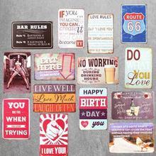 Fútbol cerveza Live Well Vintage señales de metal retro lata cartel placas decorativas pegatinas de pared Pub Bar garaje Decoración