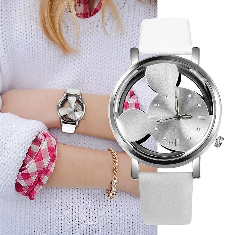 Luxo 2018 Ladies Watch Crystals Clocks Women Luxury Quartz With Leather Kad Saatleri New Hot Relogio Feminino Gifts