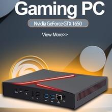 Intel i9 9880H 8950HK Mini Gaming PC NVIDIA GTX1650 4GB DP 60H Fan Kühl Desktop Computer Wifi 5,0 Linux Dual Grafiken M.2 NVME