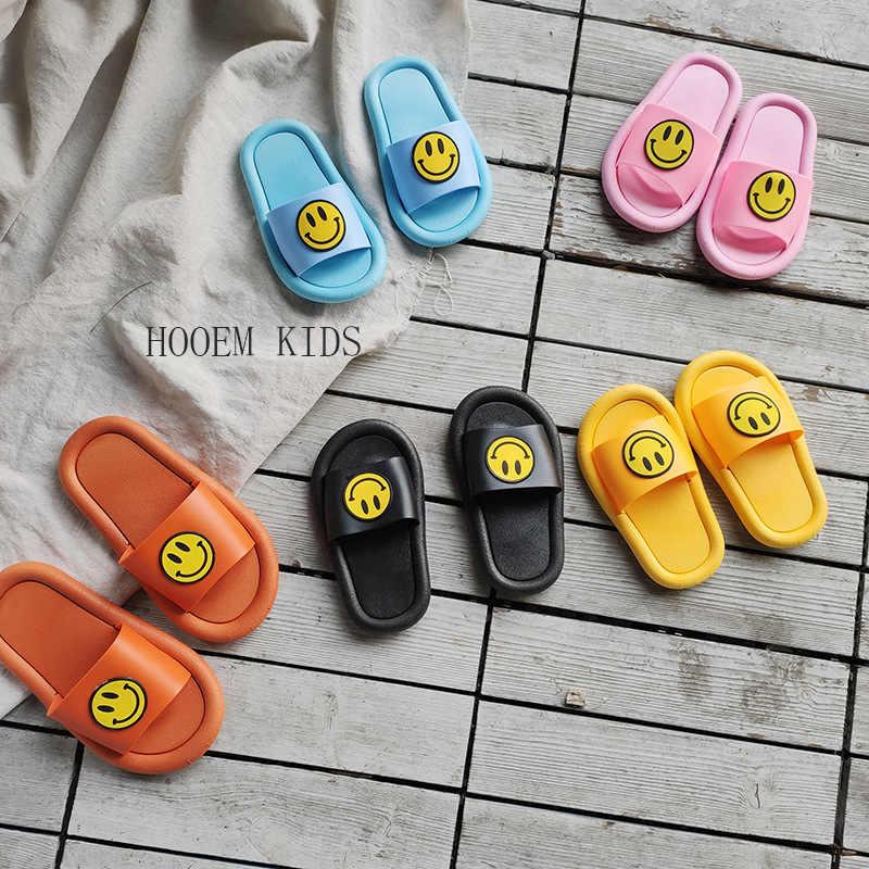 Sandali dei bambini Delle Ragazze Dei Ragazzi Slipper Carino Smiley Coperta Anti-slip Bagno di Casa Slipper Capretti di Estate di Vibrazione di Cadute di Tacco Piatto