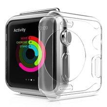 Прозрачный силиконовый чехол для apple watch se 6 5 4 38 мм