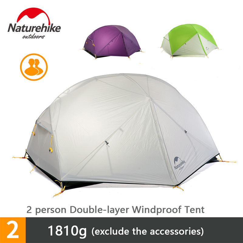 Mongar 2 Camping Tent 2 Person Ultralight Double Layer Waterproof 3 Season Tent
