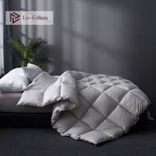 Liv-Esthete High Grade Gray100% Silk Cover Filled Duvets Bedding Comforters Double Queen King Duvet Hand work Quilts