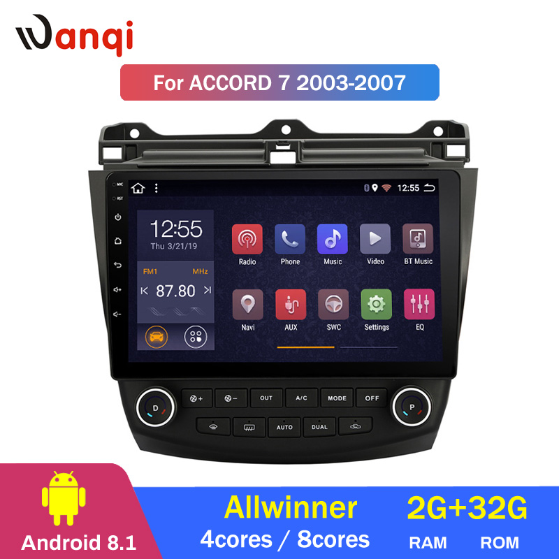 2G RAM 32G ROM 10.1inch Android 8.1 Car GPS Navigation For <font><b>Honda</b></font> <font><b>accord</b></font> <font><b>7</b></font> 2003-2007 With Stereo Audio Radio Video image