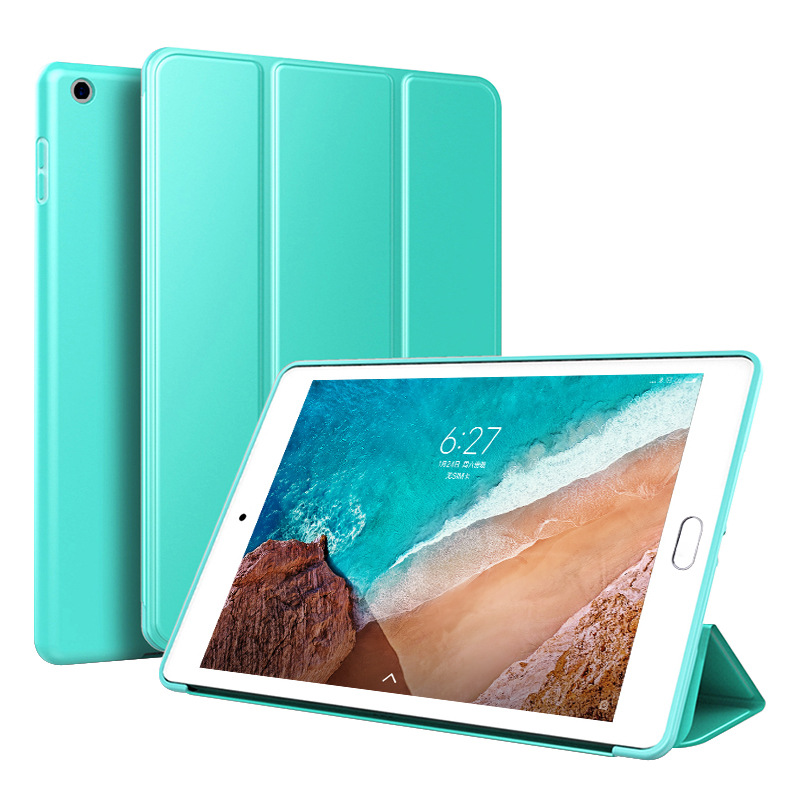 Green Green Trifold Leather Smart Case for iPad 10 2 7th generation 2019 Slim Translucent PC Back Cover