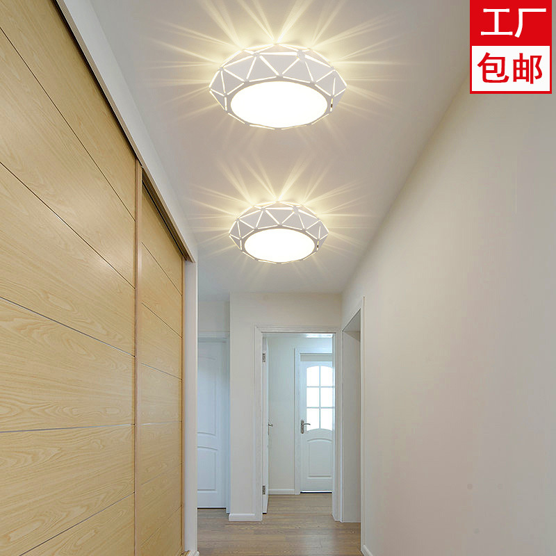 Circle Diamond LED Aisle Light Corridor Lights Entrance Lights Modern LED Ceiling Light Creative Concealed Surface Mounted Ceili