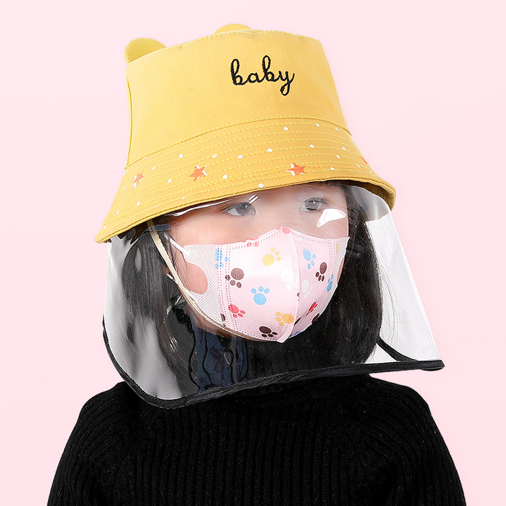 New baby girl boy Anti-spitting Protective Hat Dustproof Cover Kids Fisherman Cap Effectively isolates saliva carrying viruses(China)