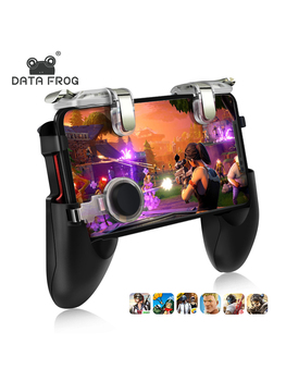 DATA FROG 2 Pack Mobile Controller Trigger Game Fire Button Phone Joystick For PUBG For 1