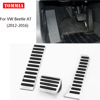tommia For VW Beetle AT 2012-2018 Pedal Cover Fuel Gas Brake Foot Rest Housing No Drilling Car-styling
