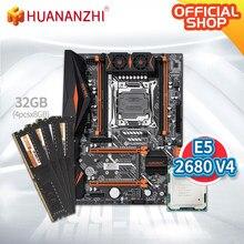 HUANANZHI X99 AD4 X99 płyta główna z Intel XEON E5 2680 v4 z 4*8G DDR4 NON-ECC pamięci zestaw combo zestaw NVME NGFF SATA USB 3.0