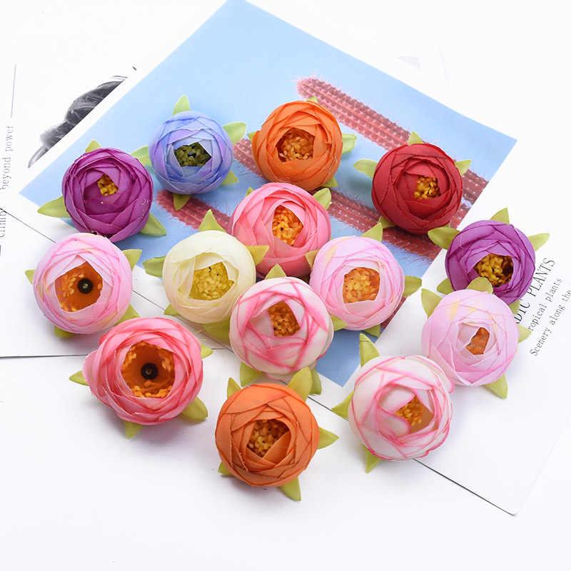2/10/20 sztuk małe pąki herbaty jedwabne róże ślubne akcesoria ślubne odprawy dekoracje na boże narodzenie dla domu sztuczne kwiaty