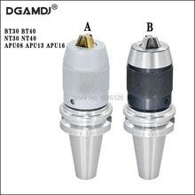 1pcs BT30 BT40 NT30 NT40 APU08 APU13 APU16 80L 100L 110L High Precision CNC Integrated Self Tightening Drill Chuck