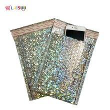 10pcs/8 Size Laser  Aluminized Bubble Bag Boutique Bubble Envelope Poly Bubble Mailer Self Seal Padded Envelopes/mailing bags